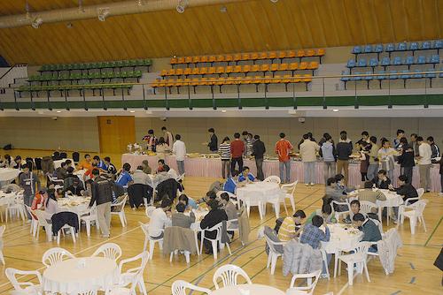 Tiệc buffet tại nhà thi đấu